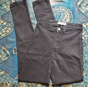 American Apparel Black Skinny Jeans High Waisted